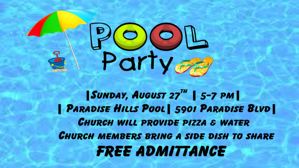 All Church Fellowship (Pool Party)